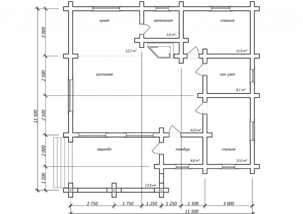 Проект № Р106, планировка